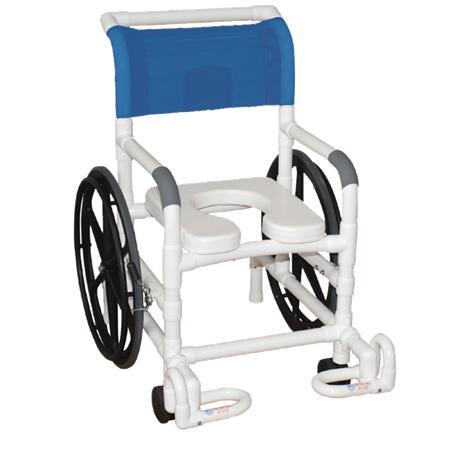 MJM International Self Propelled Multi Purpose Rehab Chair,Forest Green,Each,131-18-24W-IF