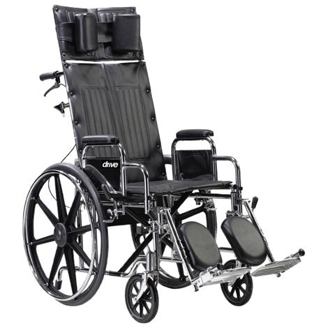 Drive Deluxe Sentra Full Reclining Dual Axle Wheelchair,Each,STD22RBDDA
