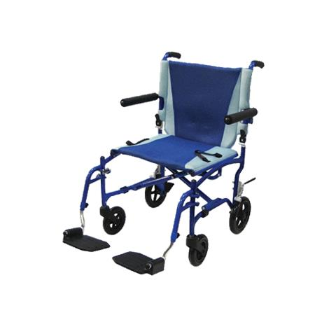 "Drive TranSport 19 Inches Aluminum Transport Chair,Seat 19""W x 16""D,Each,TS19"
