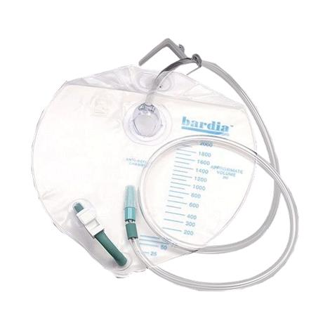 Bard Bardia Closed System Urinary Drainage Bag,Swivel Hanger with Flexible Hook,2000ml,20/Pack,802001