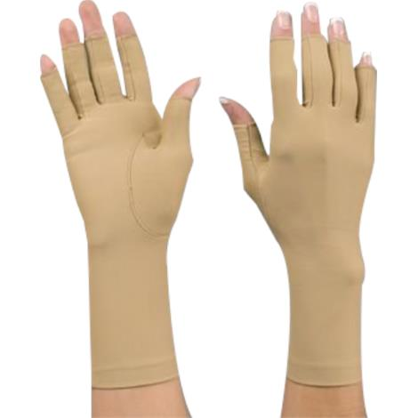 "Rolyan Wrist Length Compression Gloves,8"", Small, Open Finger Glove, Right,Each,92744001 - from $14.41"