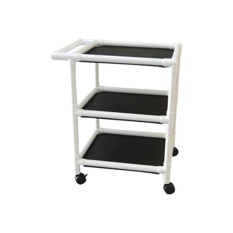 MJM International Non Magnetic Three Shelf Utility Cart,Utility Cart,Each,325-24-3-MRI