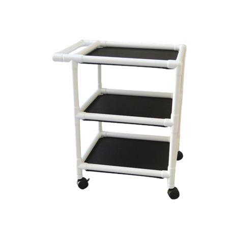 MJM International Non Magnetic Three Shelf Utility Cart,Utility Cart,Each,325-24-3-MRI