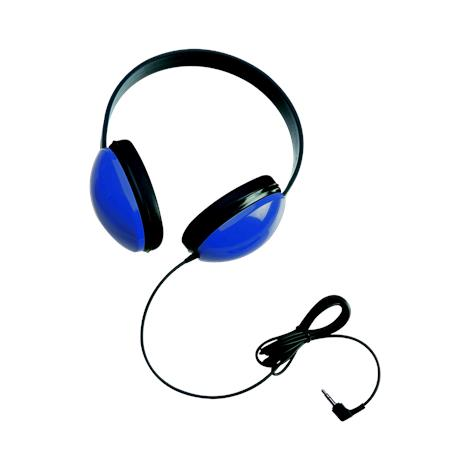 Califone Listening First Wired Stereo Headphones,Blue,3/Pack,2800-BL