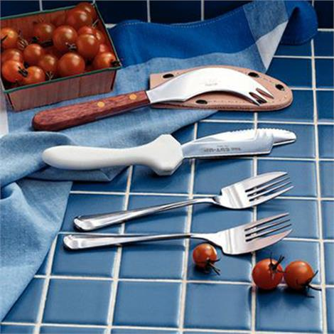 """Knife-Fork Combo,4-1/4"""" Long Blade and 4"""" Long Wooden handle,Each,1046"""