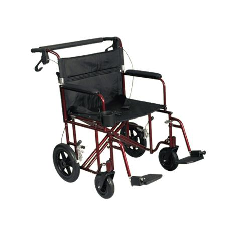 "Medline Freedom Lightweight Bariatric Transport Chair,Seat 22""W x 19""D,Each,MDS808200BAR"