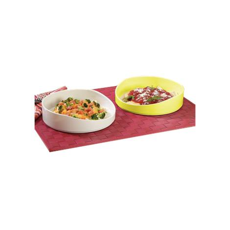 Hi Lo Scoop Dish,White,Melamine,Each,1429