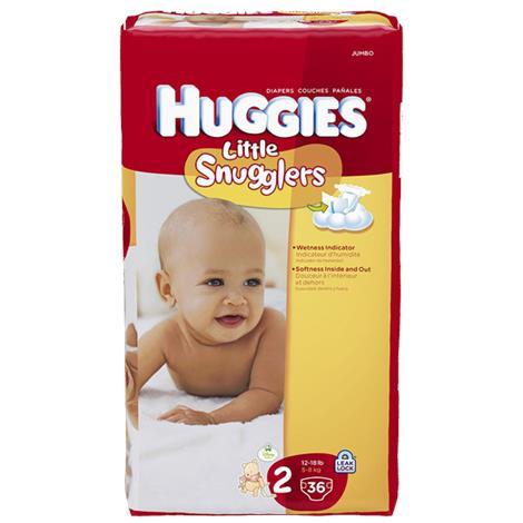 HUGGIES Little Snugglers Diapers,Micro Preemie,240/Case,40581