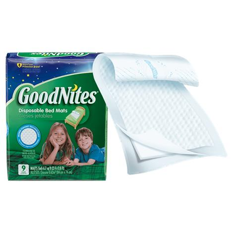 "Goodnites Disposable Bed Mats,30"" X 36"",9/Pack,32519"