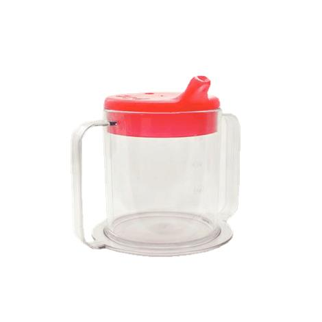 Independence Two-Handled Clear Mug,With Red Lids,Each,81560275