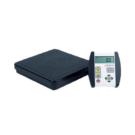 Detecto Low-Profile Portable Physician Floor Scale,Capacity: 400 lb x 0.2 lb / 180 kg x 0.1 kg,Each,DR400-750