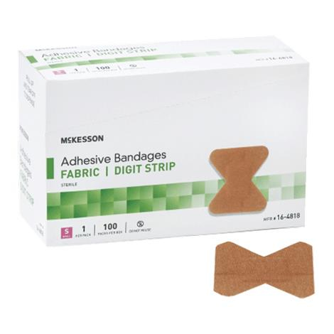 McKesson Fabric Strip Adhesive Bandage,Knuckle,1-1/2