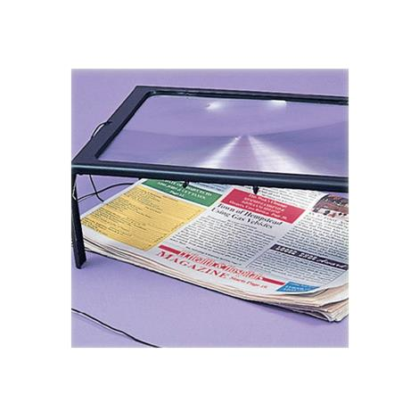 """Deluxe Page Size Magnifier With Light,7-1/2"""" x 10-1/2"""",Each,564208"""