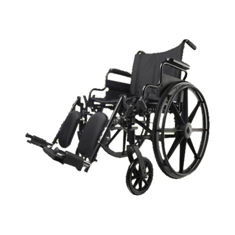 "Medline Excel K4 Basic Manual Wheelchair,Seat 18""W x 16""D,with S/A ELR,Each,MDS806550E"