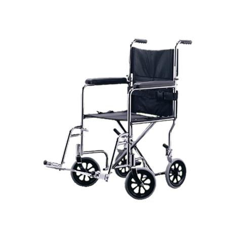 "Medline Excel Steel Transport Wheelchair,19""W x 16""D,Each,MDS808200"