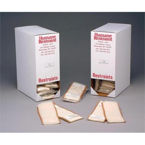 """Humane Restraint Disposable Fleece Liners,Ankle,9-1/2"""" to 3-1/2"""",12 Pair/Pack,FAL-200"""