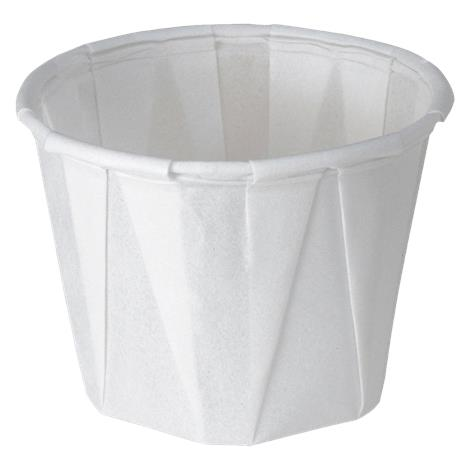 Medline Disposable Paper Souffle Drinking Cups,Holds 3.5 Oz,Pleated,2500/Case,NON024230 MINON024230