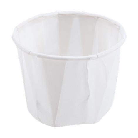 Solo Disposable Paper Souffle Cups,1/2oz,5000/Case,P050 NON024214