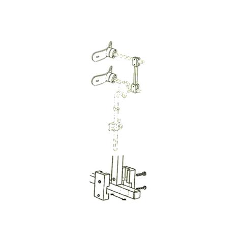 """Danmar 6818-D Two Step Head Support with Hensinger and Otto Bock Mount,3"""" Long Bar,Each,6818-D"""