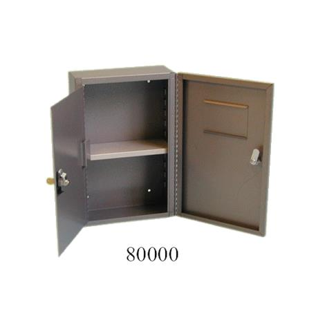 """Brandt Narcotics Safe,14-1/2"""" X 9-1/2"""" X 4"""" with Two Shelves,Each,80000"""