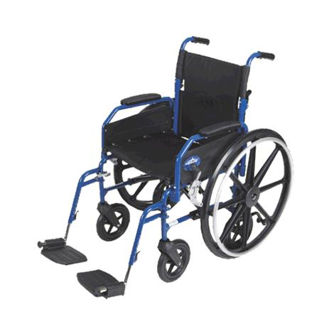 "Medline Hybrid 2 Transport Wheelchair Chair,Seat 18""W x 16""D,Swing Away Leg Style,Each,MDS806250H2"