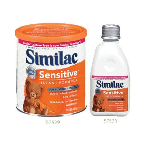 Abbott Similac Sensitive Formula with Iron,Early Shield Powder,12.6oz (357gm),Can,6/Case,57539