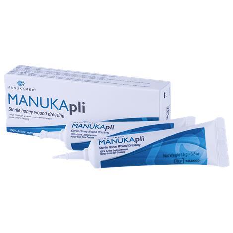 ManukaMed MANUKApli Sterile Honey Wound Dressing,0.5oz,Tube,10/Case,MM0049