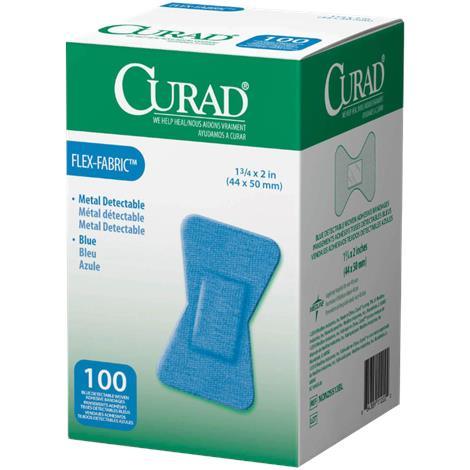 Medline Curad Flex-Fabric Detectable Adhesive Bandages,1 x 3 (2.54cm x 7.62cm),1200/Case,NON25660BL