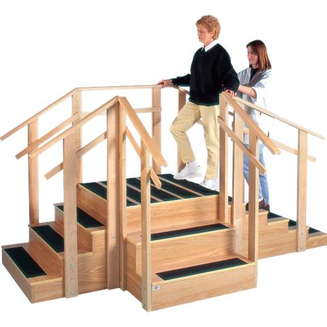 """Hausmann Patented Three-In-One Training Staircase,109""""L x 56""""W x 24""""H,Each,1570"""