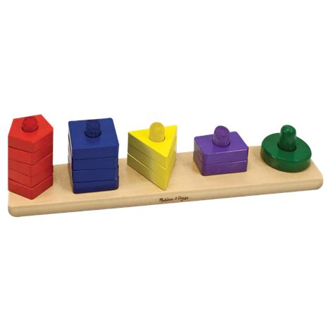 Melissa & Doug Stack And Sort Board,4.5 x 2.5 x 13.3 (Assembled),Each,379