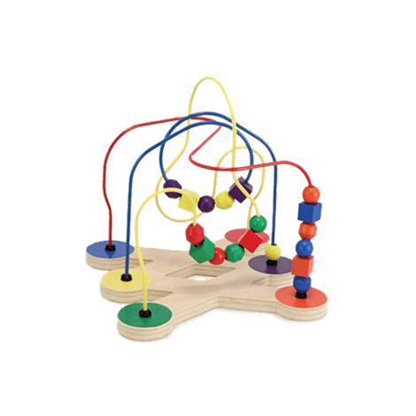 Melissa & Doug Classic Toy Bead Maze,11.75 x 11.75 x 12.5 (Assembled),Each,2281