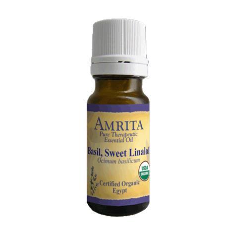 Amrita Aromatherapy Basil Sweet Linalol Organic Essential Oil,1000ml,Bottle,Each,EO3111