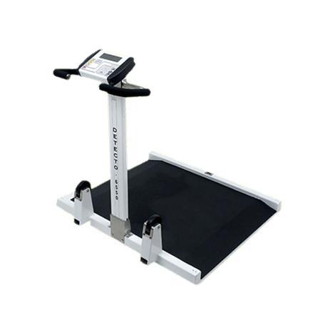 Detecto Folding Portable Wheelchair Scale,Capacity: 1,000 lb x 0.2 lb / 450 kg x 0.1 kg,Each,6550