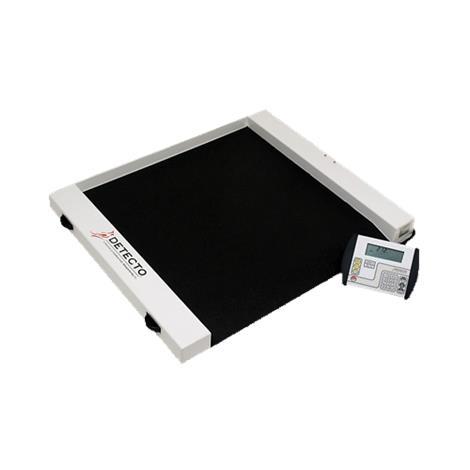 Detecto Roll-A-Weigh Wheelchair Scale,Weight Capacity: 500lb x 0.2lb 225kg x 0.1kg,Each,CR-5000D