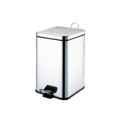 Graham-Field Stainless Steel Waste Receptacle,10.6 x 10.6 x 25.8,Each,8360