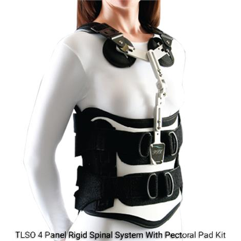 Optec Edge Sl Tlso 4 Panel Rigid Spinal System With Pectoral Pad Kit