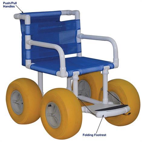 MJM Echo All Terrain Wheelchair,Wheelchair,Each,E720-ATC-YEL