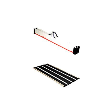 "Clarke DecPac Portable Fiberglass Multipurpose Four Panel Ramp,With Edge Barrier,Length 4ft 4"",Each,MPEB44"