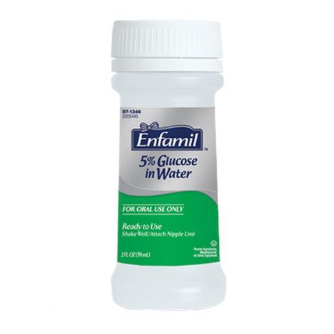Enfamil Water,2fl oz,Plastic Nursette Bottles,48/Case,134601