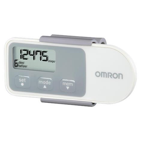 "Omron Hip Pedometer,3"" W x 1-1/4"" H x 1/4"" D,3VDC,Each,HJ-320"