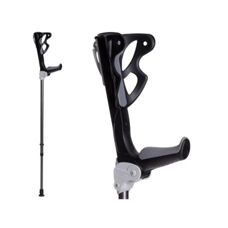 FDI ErgoDynamic Lightweight Forearm Crutches,Black,Large,Pair,315-01L