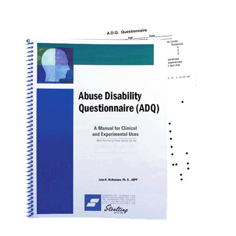Stoelting Abuse Disability Questionnaire,ADQ,Each,32501