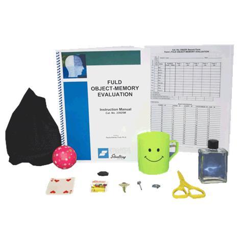 Stoelting Fuld Object Memory Evaluation Kit,Form I,Each,33925