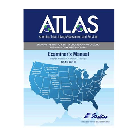Stoelting Attention Test Linking Assessment and Services Kit,ATLAS Kit,Each,32744
