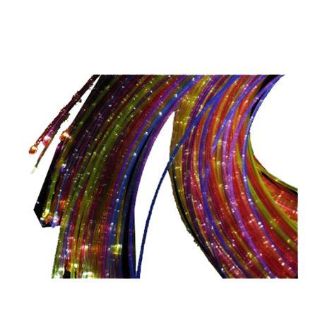 "Universal Fiber Optic Sensory UV Reactive Side Sparkle Side Glow Harness,100 Tails at 118"",Each,SEN-100-3-UV"