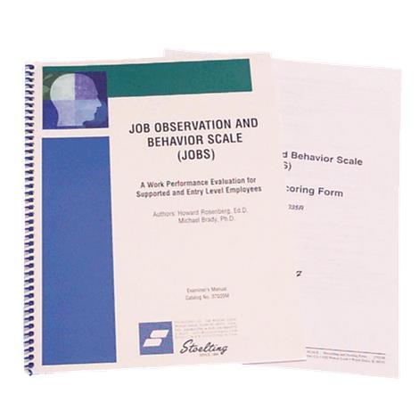 Stoelting Job Observation And Behavior Scale Kit,JOBS Kit,Each,37035