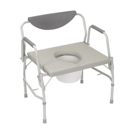 "Drive Deluxe Bariatric Drop-Arm Bedside Commode Chair,Seat Dimensions: 23.25""W x 18.5""D,Each,11135-1"