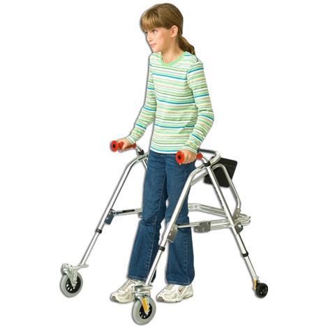 Kaye PostureRest Four Wheel Walker With Seat For Children,0,Each,W1BHR
