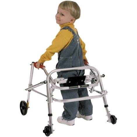 Kaye PostureRest Four Wheel Walker With Seat,Front Swivel And Silent Rear Wheel For Small Children,0,Each,W1/2BHSX