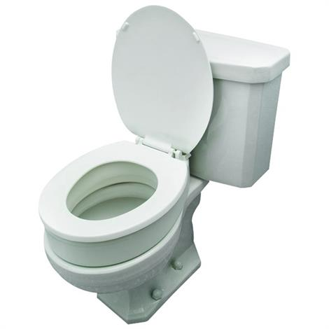"Essential Medical Toilet Seat Riser,For Elongate Toilet Bowls: 14""W x 19.5""D,Each,B5081"
